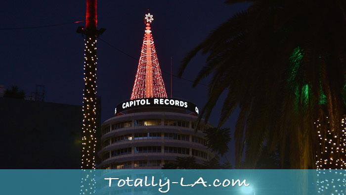 Capitol Records christmas Tree